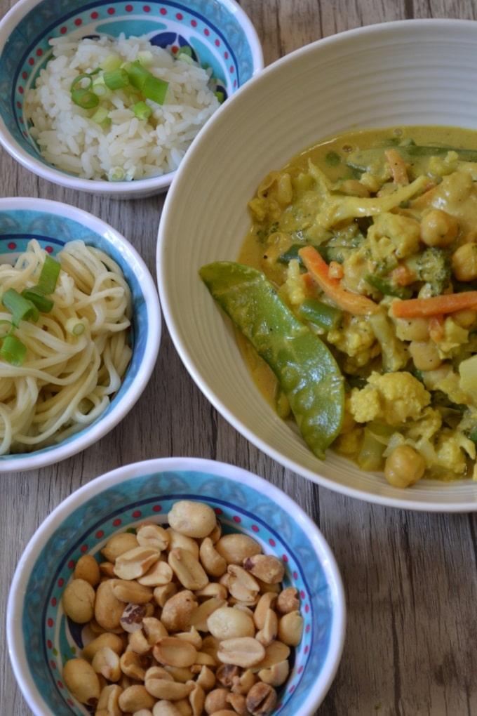 Gemüse Hähnchen Curry Erdnussbutter (3)