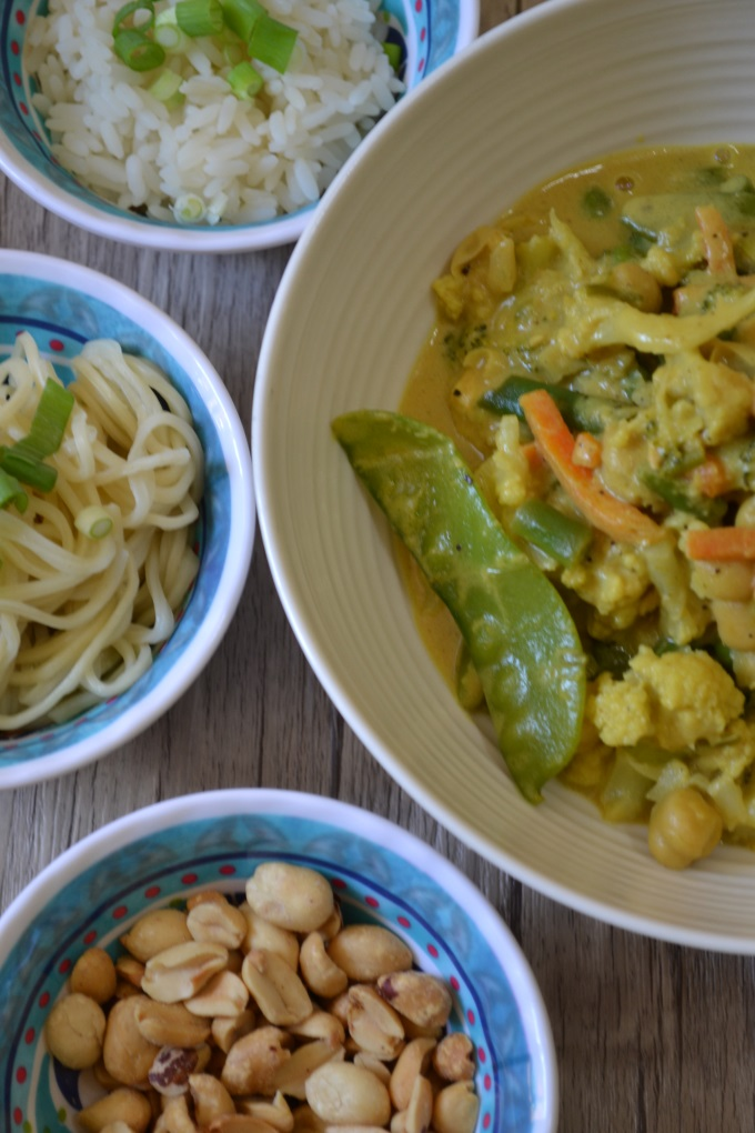 Gemüse Hähnchen Curry Erdnussbutter (4)
