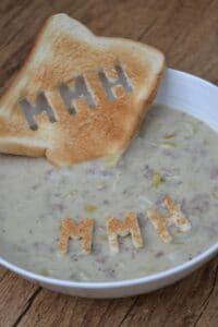 Frischkäse-Lauch-Suppe