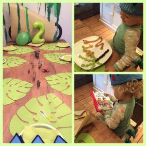 …feiern wir eine Dschungel-Geburtstagsparty