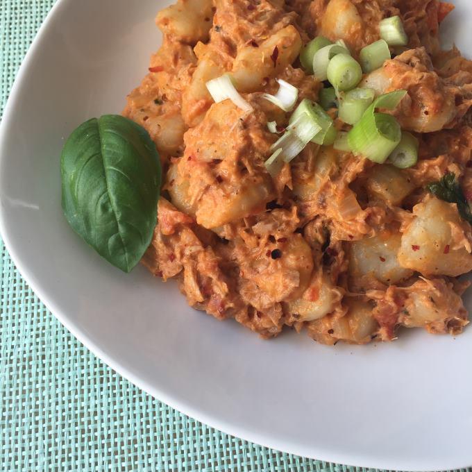 Gnocchi Tomaten Thunfisch Soße (3)