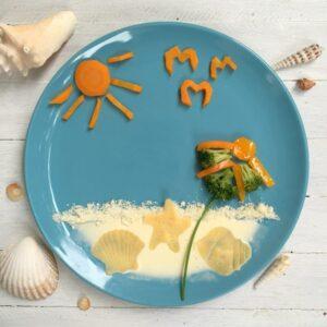 Pasta-Sommertag am Strand