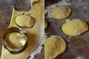 Kürbis-Ravioli mit karamellisierter Zwiebel-Frischkäse-Füllung