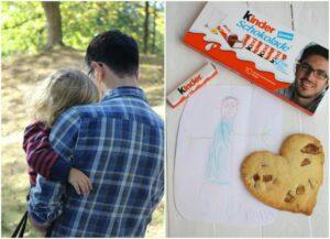…sagen wir dem Papa Danke mit seinem Gesicht auf der kinder Schokolade (Werbung inkl. Gewinnspiel)
