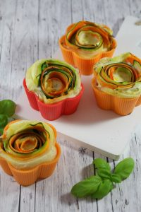 Gemüse-Blätterteig-Rosen