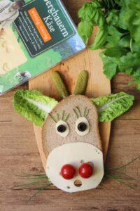 Kreative Brotzeit mit Bergader Käse (Werbung)