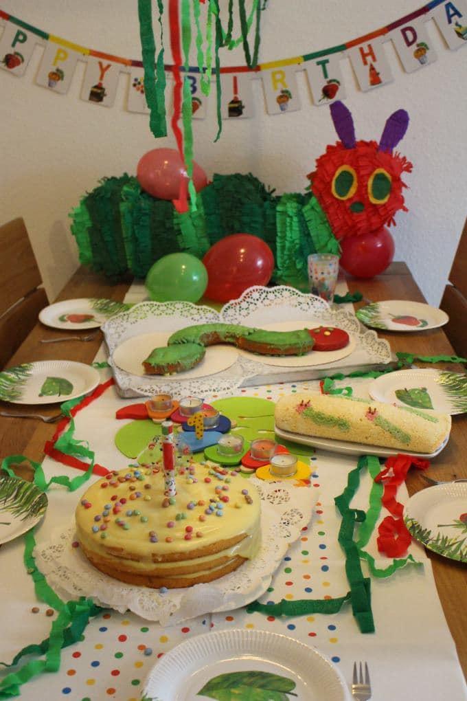 Wir feiern eine Raupe Nimmersatt-Geburtstagsparty