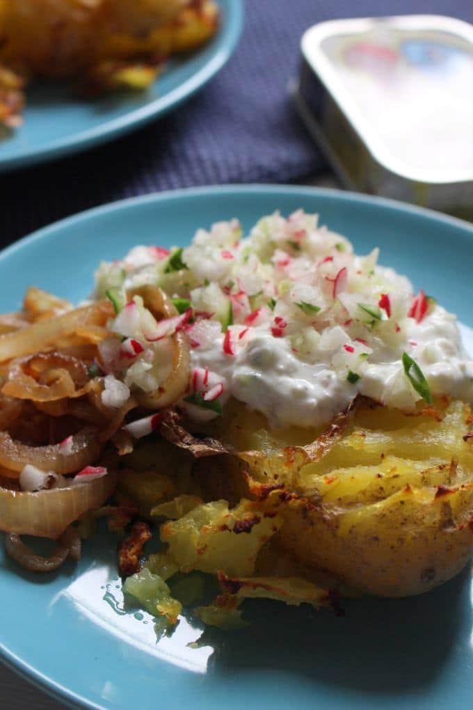 Smashed Potatoes mit Quark