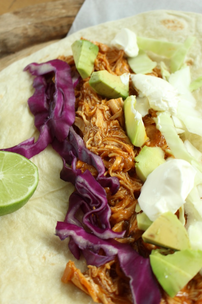 Pulled Chicken Wraps
