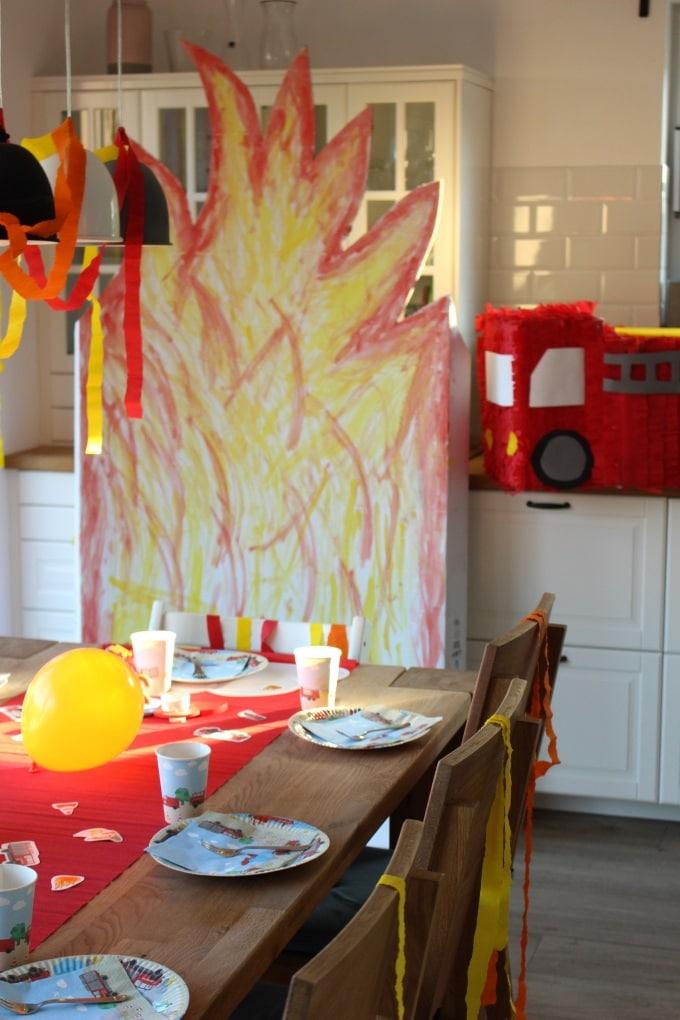Feuerwehr-Geburtstagsparty