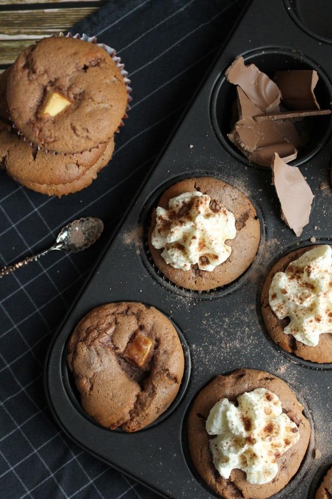 Schoko-Apfel-Muffins