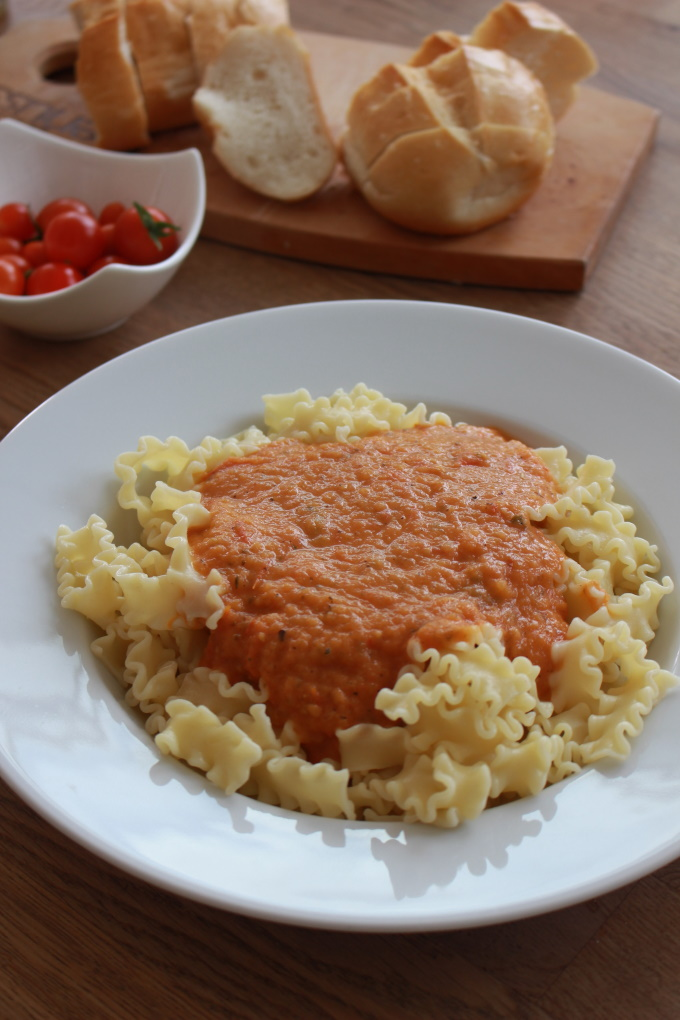 Pasta mit frischer Tomatensauce