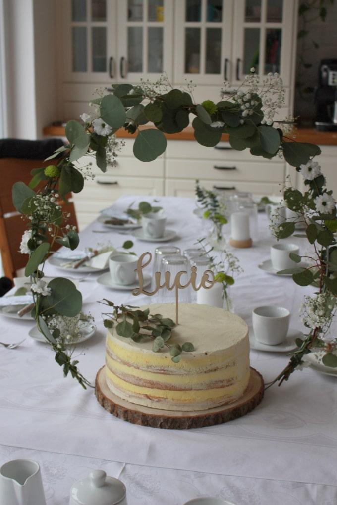 Unsere Taufe - mit DIY Tortenständer