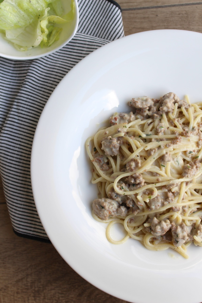 Pasta mit Ragù Bianco