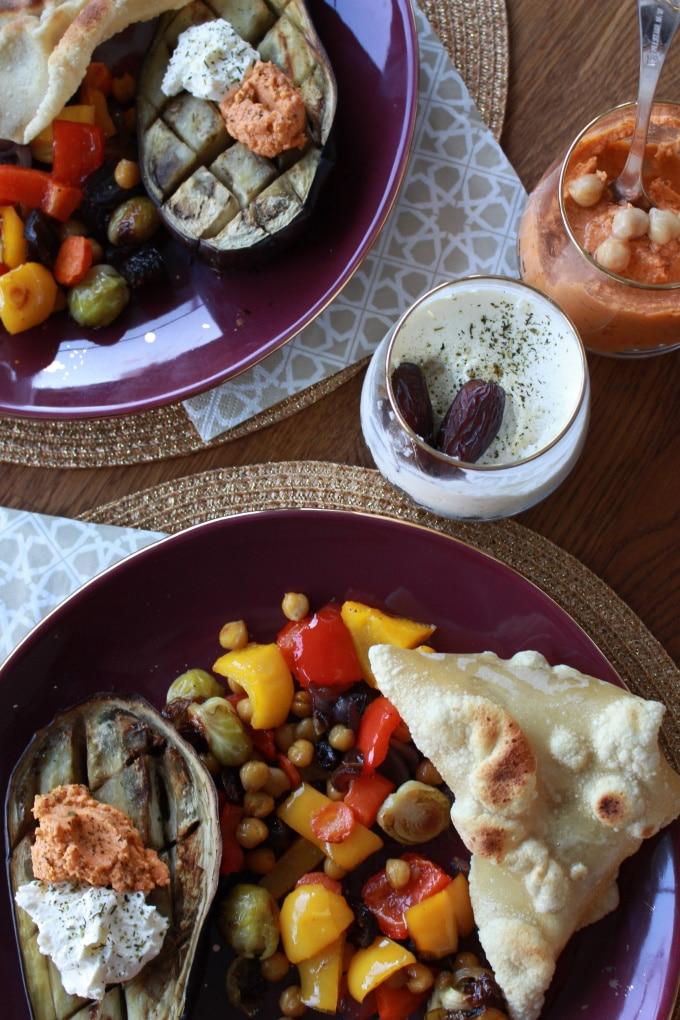 Orientalisches Ofengemüse mit Datteln