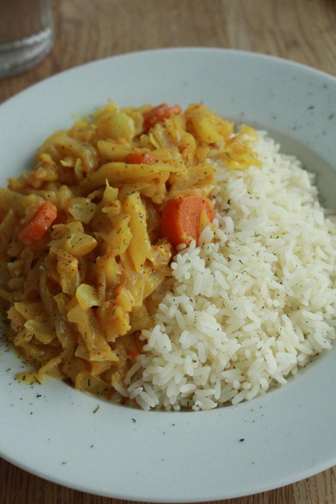 Thai-Weißkohl-Pfanne